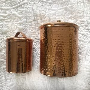 Copper Plated Canisters - Set of 2